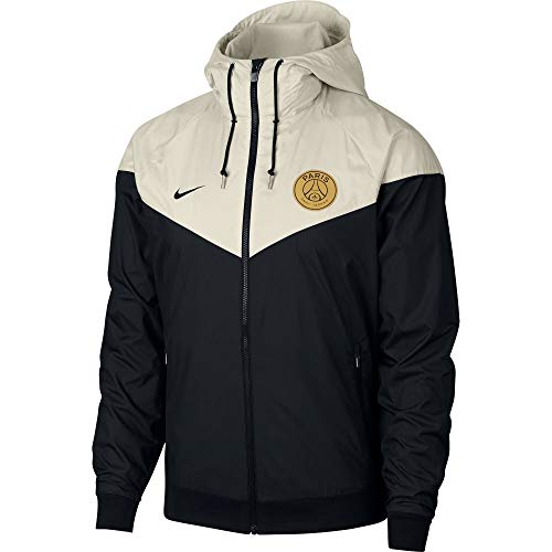 Nike Mens PSG M NSW WR WOVEN AUT 892422-012_L - BLACK/LIGHT BONE/BLACK