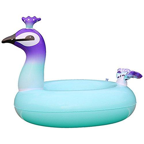 gonflable Paon piscine flotteurs, Funny piscine flotteurs ou d'été en plein air jouet de plage pour adultes, enfants, géant, Pool Party Bague Vacances de natation Cercle