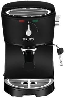 KRUPS XP3200 Opio Pump Boiler Espresso Machine with Milk Frothing Nozzle for Cappuccino, Black