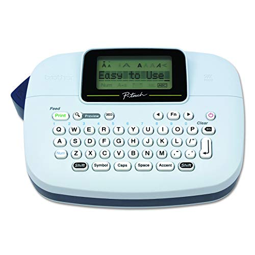 (Premium Pack P-touch, PTM95, Handy Label Maker, 9 Type Styles, 8 Deco Mode Patterns, White )