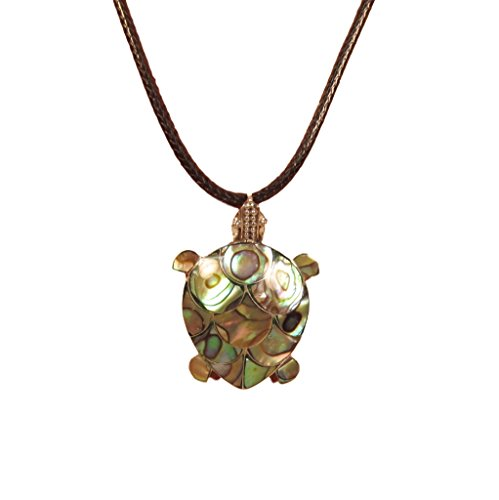 Abalone Shell Turtle 925 Sterling Silver Pendant Bali Bay Trading Co