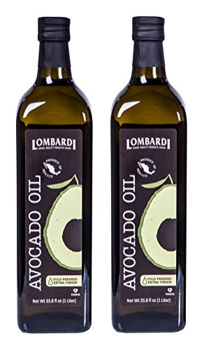 - 2 Pack Lombardi Extra Virgin Avocado Oil 67.6 fl oz (2 x 33.8 fl oz) Premium Quality 2 Liters (2 x 1 Liter) Kosher Non-GMO Product of Mexico Cold Pressed for Cooking, Backing, Salad Dressing