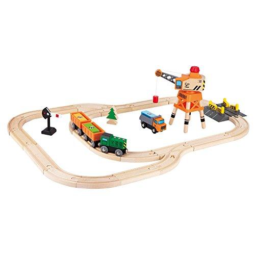 Hape Railway Crane & Cargo Train - Wooden Crane Set