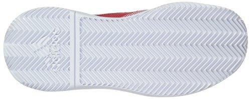 adidas Women's Adizero Defiant Bounce Tennis Shoe Flash red/White/Scarlet 6 M US by adidas (Image #3)