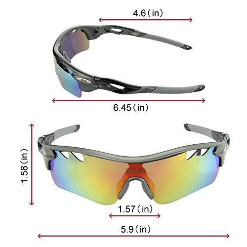 0d5ddcf490 DUCO 0025 - Gafas de sol deportivas, polarizadas, con 5 lentes  intercambiables. Protección UV400 anti rayos UVA UVB UVC Color Bronce:  Amazon.es: Deportes y ...