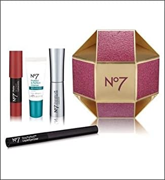 447b0725cb0 No7 Little Bauble of Beauty 4 Piece Gift Set - Includes Dramatic Lift  Mascara - Black, ...
