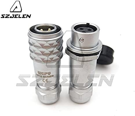 Medical Power Wire Connector SZJELEN WEIPU SF12 Series Pair IP67 3Pin Waterproof Aviation Cable Connector Plug and Socket 3Pin, Pair-Plug Male /& Socket Female