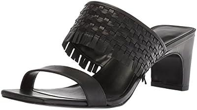 Nine West Women's NIRVELI Leather Slide Sandal