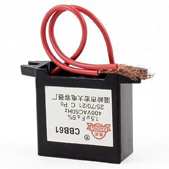 DealMux Ventilador de techo Condensador CBB61 1.5uf MFD 400VAC ...