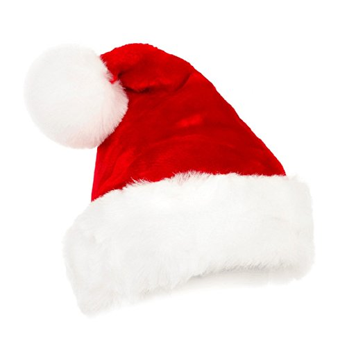 ANGELS--Christmas Party Santa Claus Dress Red Plush Hat Cap Xmas Headgear Costume Gift