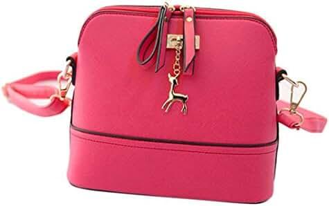 Small Shoulder Bags,Hemlock Women Girls Purse Handbag Wallet Zipper Handbag (Pink)