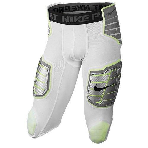 (Nike Men's Hyperstrong Hard Plate 3/4 Football Girdle White (Medium))