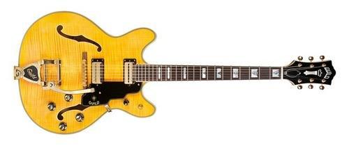 Guild Starfire VI with Guild Vibrato Tailpiece Semi-Hollow Body Electric Guitar with Case (Blonde)