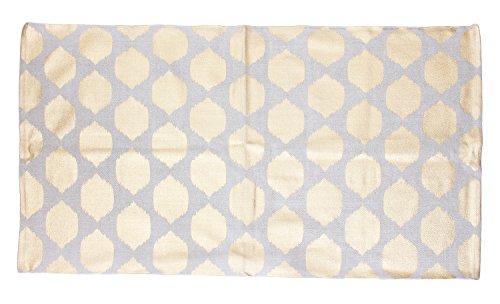 Thro by Marlo Lorenz Isabelle Metallic Cotton Rug Foil Print, Oatmeal Gold (Rug Metallic Gold)