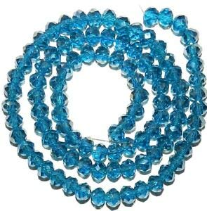 Steven_store CR271 Dark Carribean Blue AB 6mm Rondelle Faceted Cut Crystal Glass Bead 16