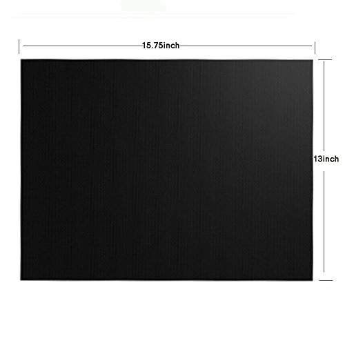 T-Language 6 Sheet Grill Mat, Reusable Barbecue Mat, Suitable For ovens, Gas Stoves, Charcoal Grills, Etc Dimensions: 15.75 x 13 Inches by T-Language (Image #2)