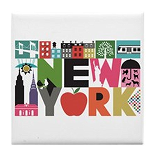 CafePress - Unique New York - Block by Block - Tile Coaster, Drink Coaster, Small Trivet