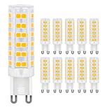 Menta 10-Pack G9 Base 7W LED Light Bulb,Warm White 3000K 450LM, Equivalent to 60W Halogen Lamp Replacement, AC220V-240V, 360 Beam Angle