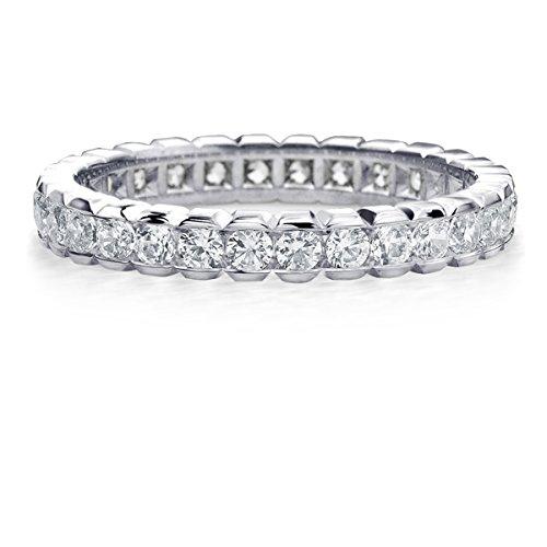 1 CT Eternity Ring in 10K White Gold, Diamond Box Set Eternity Wedding Band Anniversary Ring