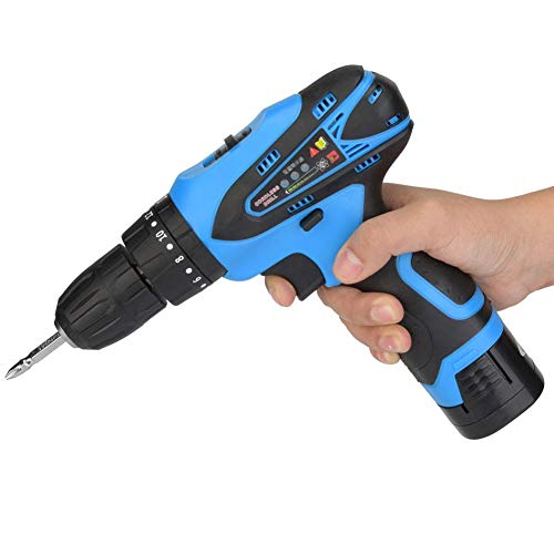 Combi Cordless Drill Hammer - 16.8V Electric Rechargeable Cordless Drill Screwdriver Set Handheld Professional Tool for Wooden Drilling Screwing Percussion(US Plug)