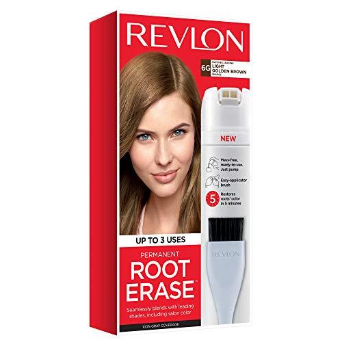 Revlon Root Erase Permanent Hair Color, Light Golden Brown, 3.2 Fluid Ounce