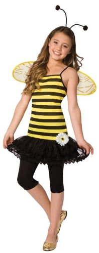Time AD Inc. 196920 Sweet As Honey Child Costume - Black-Yellow - Small - -