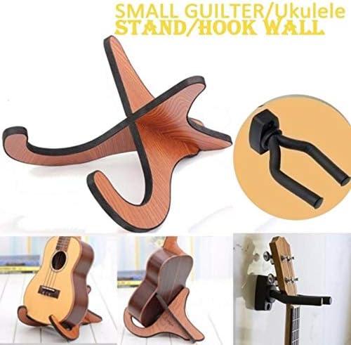 OurLeeme Soporte para guitarra Soporte para ukelele, Base plegable ...