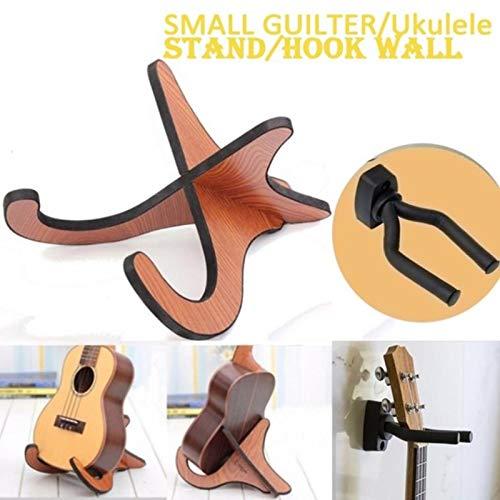 Base plegable de madera port/átil para guitarra Ukulele Violin Mandolin OurLeeme Soporte para guitarra Soporte para ukelele