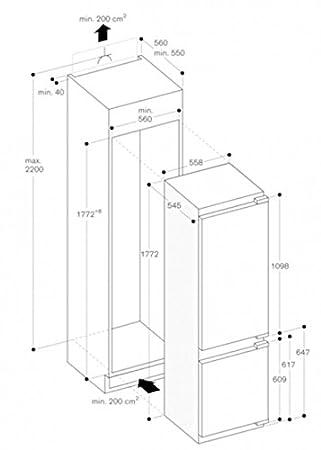 Gaggenau Frigorífico Combinado RB 282 204 DE 56 cm: Amazon.es: Hogar