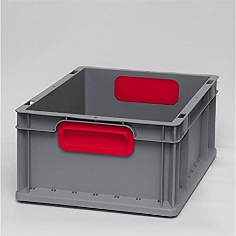 Eurokisten Eurobox Lagerbox Lagerboxen Lagerkiste Lagerkisten 400 x 300 x 170 mm Euroboxen Eurokiste Eurokasten Eurobeh/älter Griffmulde grau