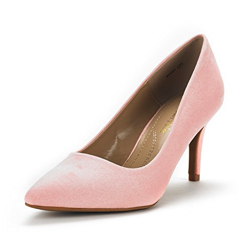 DREAM PAIRS Women's KUCCI Pink Classic Fashion Pointed Toe High Heel Dress Pumps Shoes Size 10 M US