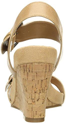 Aerosoles Sandalias de cuña de la mujer Mega peluche Bronceado