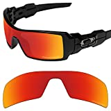 Tintart Performance Replacement Lenses for Oakley Oil Rig Sunglass Polarized Etched-Fire Red