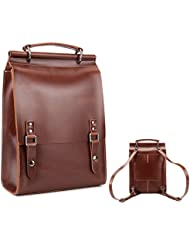 Italian Leather Backpack, Unisex for Both Men and Women, Leather Satchel for iPad, iMacbook, Travel School Outdoors