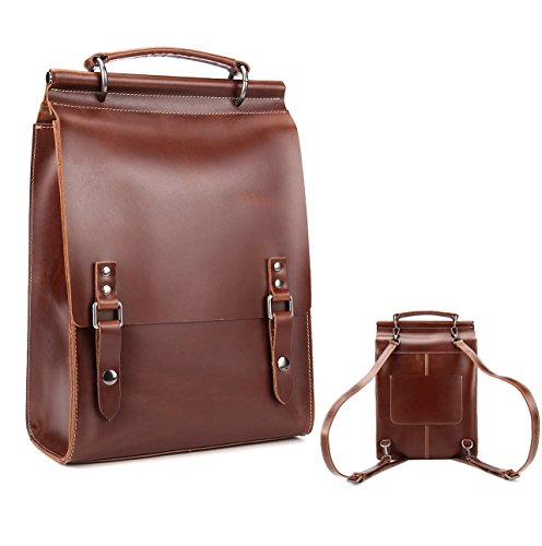 Women's Fashion Genuine Leather Backpack 11