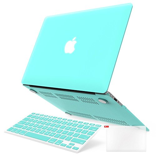 iBenzer Basic Soft-Touch Series Plastic Hard Case, Keyboard Cover, Screen Protector for Apple Macbook Air 13-inch 13