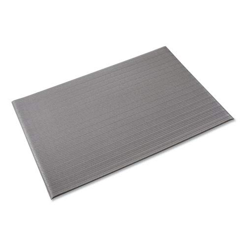 Ribbed Anti-Fatigue Mat, Vinyl, 36 x 60, Gray, Sold as 1 Each