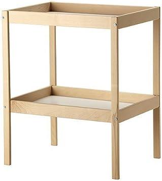 72x53cm Ikea SNIGLAR Wickeltisch aus massiver Buche;
