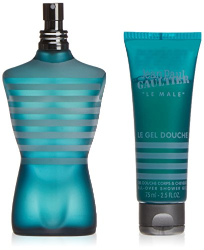 Jean Paul Gaultier Le Male Gift Set for Men (Eau De Toilette Spray and All-Over Shower Gel) (Orange Blossom Gel Perfume)