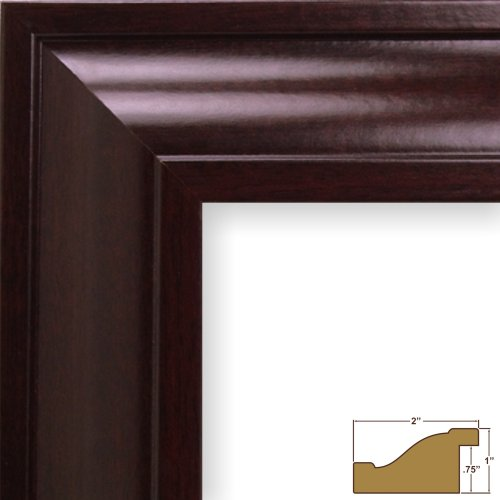 Mahogany Light 2 - Craig Frames 76047 16 by 24-Inch Picture Frame, Smooth Wood Grain Finish, 2-Inch Wide, Dark Mahogany