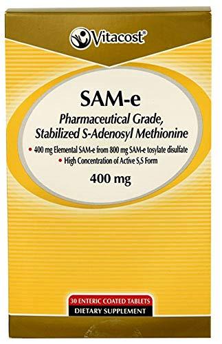 Vitacost SAM-e — 400 mg – 30 Enteric Coated Tabs
