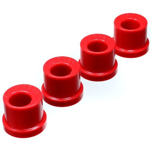 Ford Mustang Rack Pinion - 1985-2004 Ford Mustang Rack And Pinion Bushing Set Offset For Lowered Vehicles Only Red