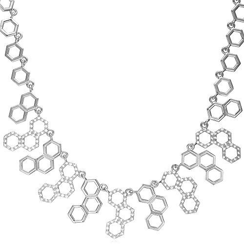 U7 Platinum Zirconia Resizable Necklace
