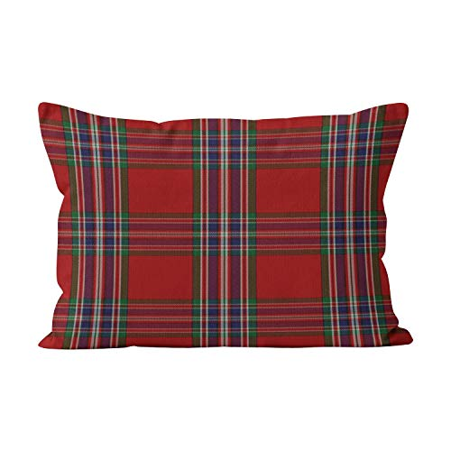- Wesbin Clan MacFarlane Tartan Plaid Hot Hidden Zipper Home Decorative Rectangle Throw Pillow Cover Cushion Case Inch 12x24 Lumbar One Side Design Printed Pillowcase