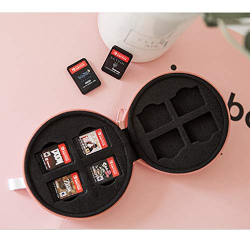 LEYUS Game Card Case for Nintendo Switch, Cute Cards Storage Cases, Lovely Cat Claw Design, Buil In 8 Slot and 16 Card Holder