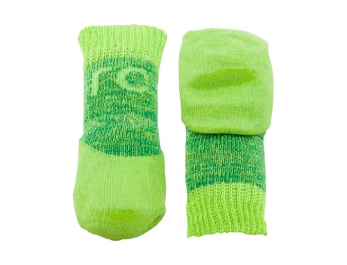 RC Pet Products Sport Pawks Dog Socks, Large, Lime Heather
