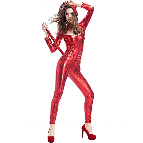 Sexy Catwoman Cosplay Tight Costumes Christmas Jumpsuits,Women Faux Leather Playsuit Sexy Party Clubwear Outfit -