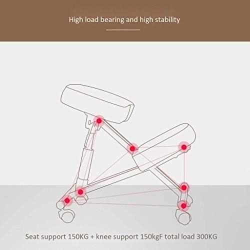 HUXIUPING Bureau Genoux Chaise Chaise Hauteur Ajustable Chaise Chaise de Bureau Ergonomique Roues Soulager la Douleur Dorsale Chaise de Travail