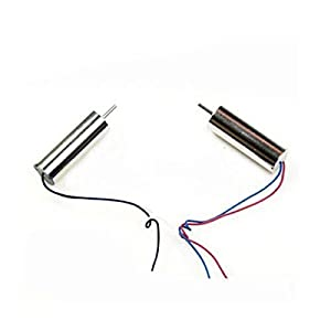 YUNIQUE USA 2 Pieces Quadcopter Spare Parts 3.7V Motor 8.5x20mm for Hubsan X4 H107C H107D 41t8BsCDH9L
