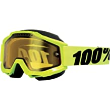 100% unisex-adult Goggle (Yellow/Yellow,One Size) (ACCURI SNOW ACC SNOW FL/Yellow/ Yellow lens)